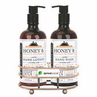 926451713-112 - Beekman 1802 Honey & Orange Blossom Soap & Lotion Gift Set - Bronze - Beekman - thumbnail