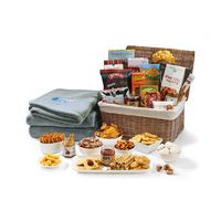 985919901-112 - Gourmet Delights Basket with Serenity Throw - Natural-Grey - thumbnail