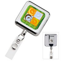 135470691-138 - Square Metal Retractable Badge Holder - thumbnail
