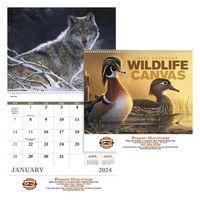 335473169-138 - Good Value® Wildlife Canvas Spiral Calendar - thumbnail