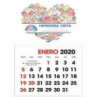 565143709-138 - Triumph® Full Color Spanish Stick Up Grid Calendar - thumbnail
