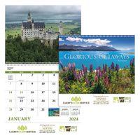 715471244-138 - Good Value® Glorious Getaways Spiral Calendar - thumbnail