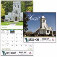 915471247-138 - Good Value® Scenic Churches Stapled Calendar - thumbnail