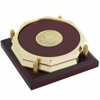 925472900-138 - Jaffa® Two Octagon Coasters w/Solid Cherry Tray - thumbnail