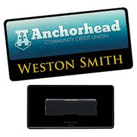 "965472782-138 - 3""x1 1/2"" BIC Graphic® Metal Label/Engraved Combo Name Tag - thumbnail"