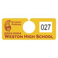 """125932452-183 - Plastic 10 pt. Numbered Hanging Parking Permit (2""""x5"""") - thumbnail"""