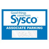 """155932467-183 - Horizontal Rectangle Clear Static Numbered Inside Parking Permit Decal (2""""x3"""") - thumbnail"""