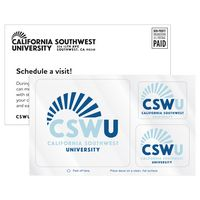 175446911-183 - 3 Rounded Corner Rectangles Clear Static Vinyl Post-Cals Decal Postcard - thumbnail