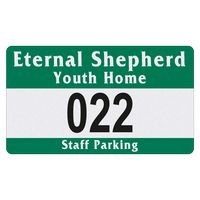 """185489556-183 - Rectangle White Reflective Outside Parking Permit Decal (2 3/4""""x4 3/4"""") - thumbnail"""