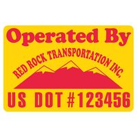 "305932410-183 - Rectangle w/ Rounded Corners Truck Signs & Equipment Decal (16 1/4""x24 1/2"") - thumbnail"