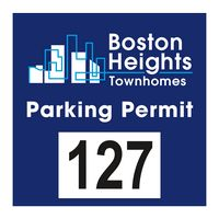 """385489554-183 - Square White Reflective Outside Parking Permit Decal (3""""x3"""") - thumbnail"""