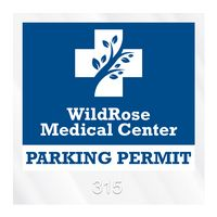 """385932475-183 - Square Clear Static Numbered Inside Parking Permit Decal (3""""x3"""") - thumbnail"""