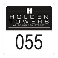 """515489567-183 - Square White Reflective Outside Parking Permit Decal (1 3/4""""x1 3/4"""") - thumbnail"""