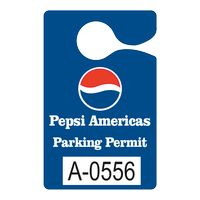 """525932453-183 - Plastic 10 pt. Numbered Hanging Parking Permit (3""""x4 3/4"""") - thumbnail"""