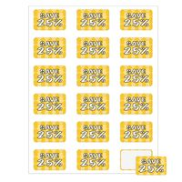 """552536367-183 - Rectangle Quick & Colorful Sheeted Label (1 1/4""""x2"""") - thumbnail"""