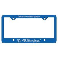 565932433-183 - Blue Auto License Frame w/ 4 Holes & Large Bottom Straight Panel - thumbnail