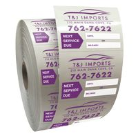 """585543303-183 - Roll of Clear Static Cling Decals for Car Windshield (2""""x2 1/2"""") - thumbnail"""
