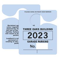 "705048440-183 - Plastic 23 pt. Hanging Parking Permit (3""x3 1/2"") - thumbnail"