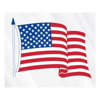 """70778233-183 - Clear Static Cling U.S. Flag Static Face Decal (3 1/2""""x4 1/4"""") - thumbnail"""