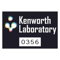 """745932496-183 - Rectangle White Vinyl Full Color Numbered Outside Parking Permit Decal (2""""x3"""") - thumbnail"""