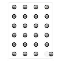 """752536360-183 - Round Quick & Colorful Sheeted Label (1"""" Diameter) - thumbnail"""