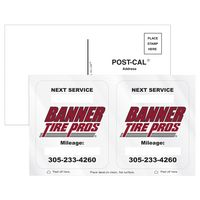 775446910-183 - Post-Cals® Postcard w/ 2 Clear Static Vinyl Rounded Corner Front Static Decals - thumbnail