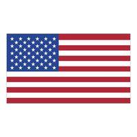 "77778232-183 - White Vinyl U.S. Flag Removable Adhesive Decal (2 1/4""x4"") - thumbnail"