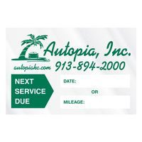 """785543306-183 - Individual Clear Static Cling Decals for Car Windshield (1 1/2""""x2 1/4"""") - thumbnail"""
