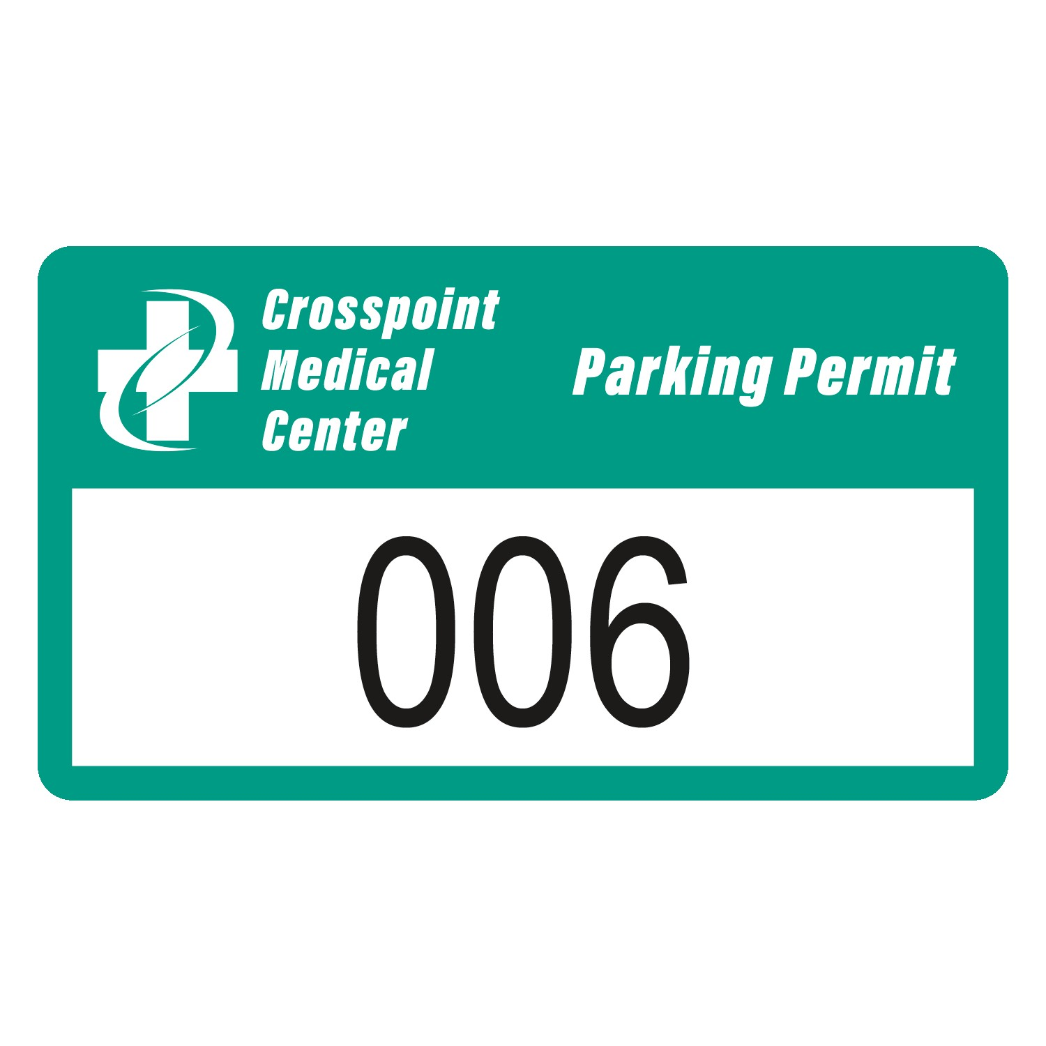 "785932476-183 - Rectangle White Vinyl Numbered Outside Parking Permit Decal (2""x3 1/2"") - thumbnail"