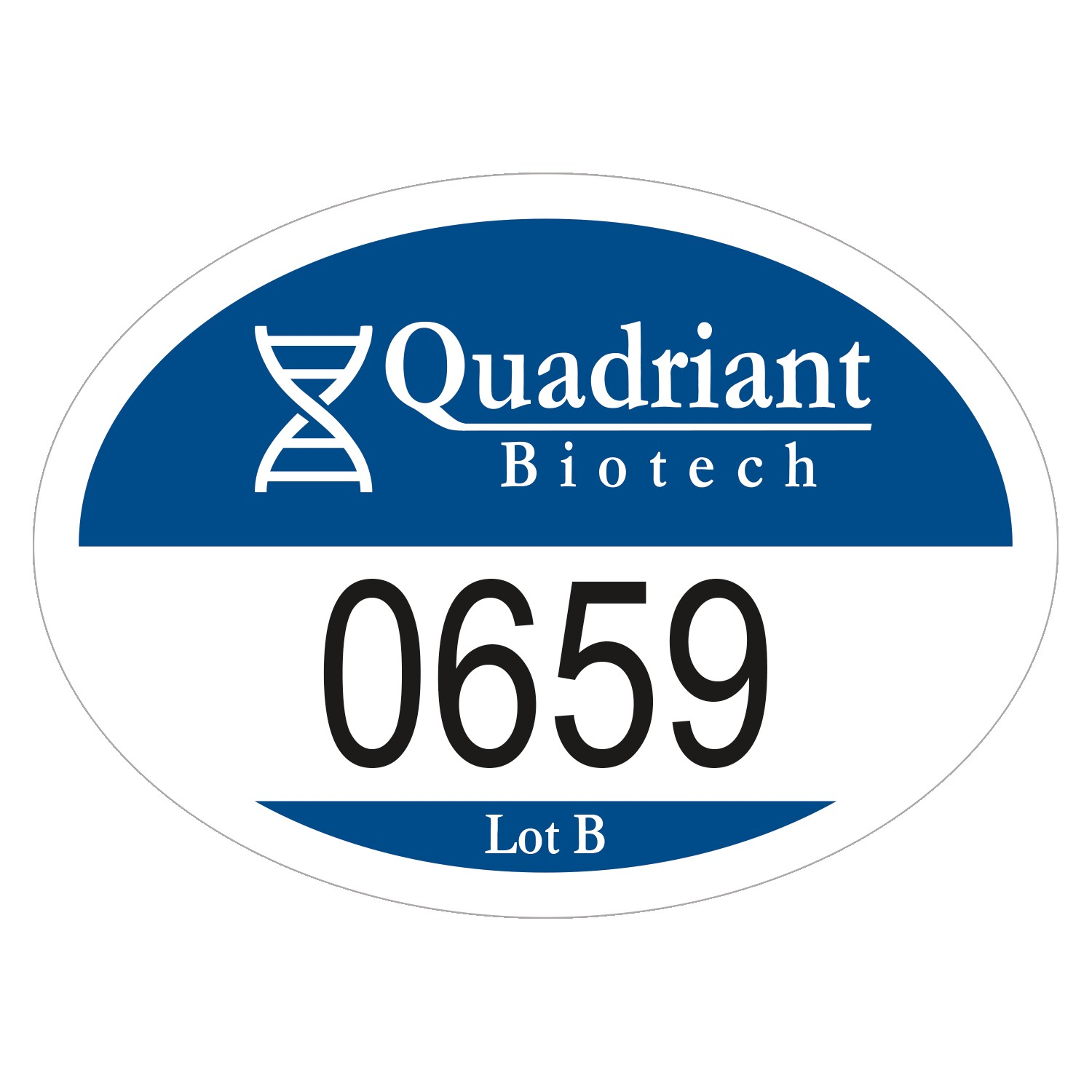 "915489563-183 - Oval White Reflective Outside Parking Permit Decal (2""x2 3/4"") - thumbnail"
