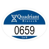 """915489563-183 - Oval White Reflective Outside Parking Permit Decal (2""""x2 3/4"""") - thumbnail"""