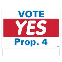 """952224918-183 - Four Piece Set - Corrugated Full Color Plastic Sign w/ 3 Rods (32""""x48"""") - thumbnail"""