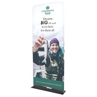 "985309665-183 - Indoor Double Sided Banner Stand w/ Fabric Banner (37 5/8"" x 91"") - thumbnail"