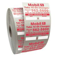 """985543304-183 - Roll of Clear Static Cling Decals for Car Windshield (2""""x2 1/2"""") - thumbnail"""