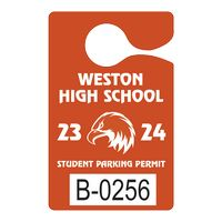 """995932444-183 - Plastic 35 pt. Numbered Hanging Parking Permit (3""""x4 3/4"""") - thumbnail"""