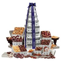 125703861-117 - Silver Delights Giant Party Tower with Blue Ribbon - thumbnail