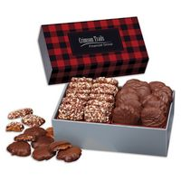 326145002-117 - 3 Day Express Service! Toffee & Turtles in Gift Box with Red & Black Plaid Sleeve - thumbnail