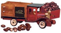 361736711-117 - Classic Wooden 1925 Stake Truck with Chocolate Almonds - thumbnail