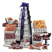 395703859-117 - Silver Delights Tower with Blue Ribbon - thumbnail