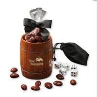 536040837-117 - Classic Wooden Barrel Cup with Chocolate Covered Almonds - thumbnail