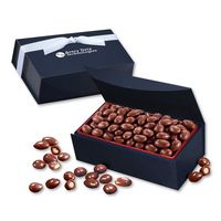 545703802-117 - Chocolate Covered Almonds in Navy Magnetic Closure Box - thumbnail