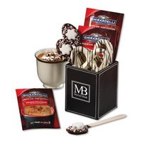555703679-117 - Faux Leather Pen & Pencil Cup with Cocoa Dusted Truffles - thumbnail