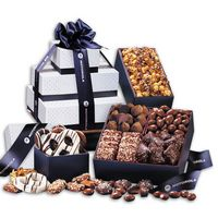 556145015-117 - 3 Day Express Service! Silver & Navy Tower of Sweets - thumbnail