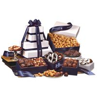 "575703817-117 - ""Park Avenue"" Tower of Chocolate in Navy - thumbnail"
