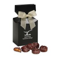 586076527-117 - Sea Salt Almond Turtles in Black Premium Delights Gift Box - thumbnail