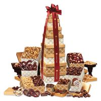 795702964-117 - Golden Delights Giant Party Tower with Burgundy Ribbon - thumbnail