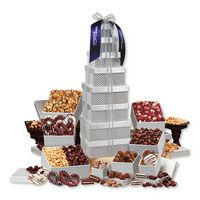 916061485-117 - Shimmering Silver Delights Giant Party Tower - thumbnail