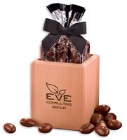 96664969-117 - Hardwood Pen & Pencil Cup with Chocolate Covered Almonds - thumbnail