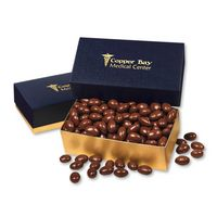 986071672-117 - Chocolate Covered Almonds in Navy & Gold Gift Box - thumbnail