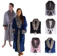 165483576-814 - Plush Robe With Fur - thumbnail